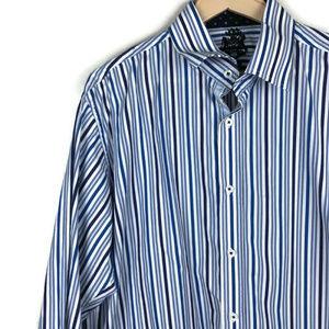 English Laundry Shirts - English Laundry | Mens Dress Shirt Blue Stripes
